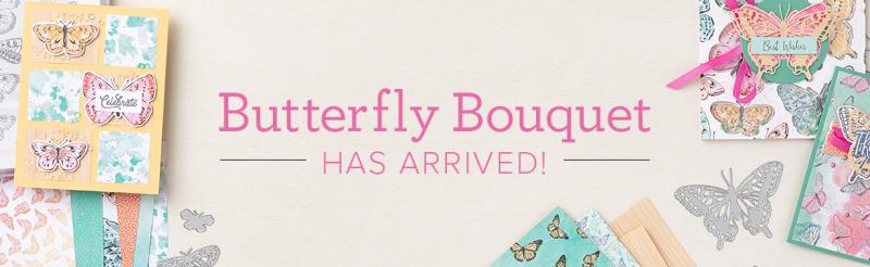 Butterfly boquet banner