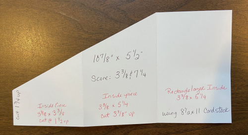 8x11 trifold angle measurements